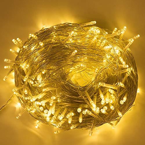 Saloves stringa luminosa 100m 500 leds 8 modalità 31v a bassa tensione ghirlanda luminosa per decorazione casa natale halloween bianco caldo
