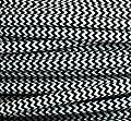 Textilkabel schwarz weiß Zick Zack dreiadrig, Stoffkabel, Lampenkabel 3 adrig, rund, 3 x 0 75mm² Kabel, auch Kabel Meterware (Strom - Elektro - Lampen Zuleitung - Leuchten Anschlusskabel - Anschlussleitung ohne Schalter und Stecker), Kabel für Lampen u