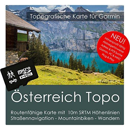 Österreich Garmin Karte Topo 4 GB microSD. Topografische GPS Freizeitkarte für Fahrrad Wandern Touren Trekking Geocaching & Outdoor. Navigationsgeräte, PC & Mac -