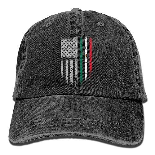 f82a02688fe POP PRETTY Mexican American Flag Denim Hat Adjustable Men s Classic  Baseball Cap