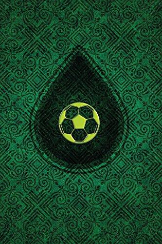 Monogram Football, Soccer Journal: Blank Notebook Diary Memoir Log Logue: Volume 57 (Monogram Chartreuse 365 Lined)
