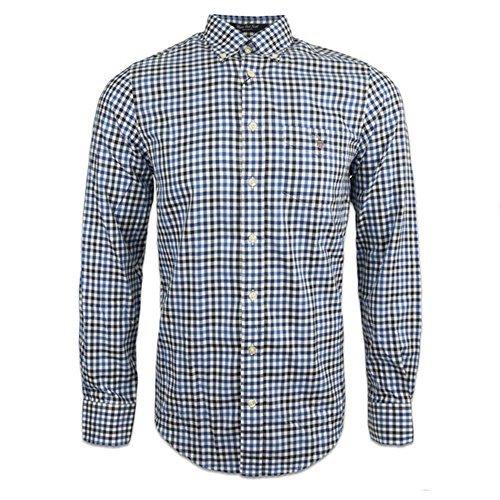 Gant Upper East Twill-Camicia a maniche lunghe a quadretti Campanula small