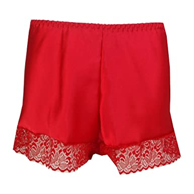 Ladies Elegant Satin French Knickers Red,Black,Navy,White,Cream ...