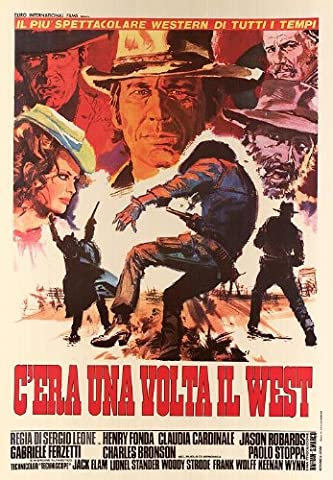 HUGE LAMINATED / ENCAPSULATED C'era Una Volta Il West - Sergio Leone - Once Upon A Time In The West - Italian Film POSTER measures approximately 100x70 cm Greatest Films Collection Directed by Sergio Leone. Starring Henry Fonda, Claudia Cardinale, Jason