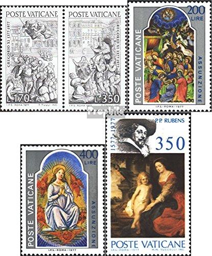 vatikanstadt-701-702-coppia703-704717-completaproblema-1977-gregory-xi-assunzione-rubens-francobolli