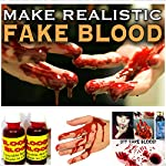 This is fake blood for Halloween party. With this you can make your body or face horrifying.