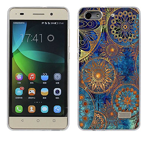 fubaoda Honor 4C Hülle Case, [Mandala-Kreis] Huawei Honor 4C(G Play Mini) Case Hülle Premium Durchsichtig Handyhülle Backcover Durchsichtig hülle Case Schutzhüllen TPU Case für Honor 4C(G Play Mini)