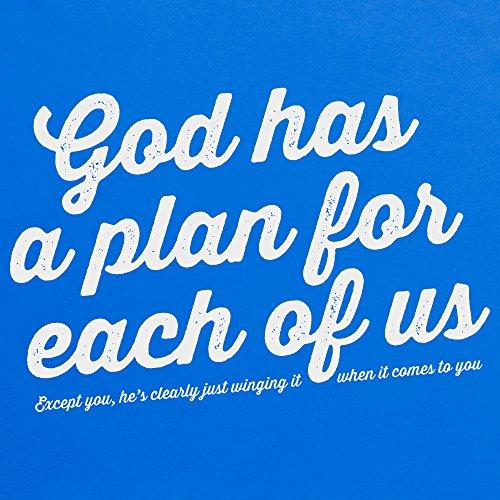 God Has A Plan T-Shirt, Herren Royalblau