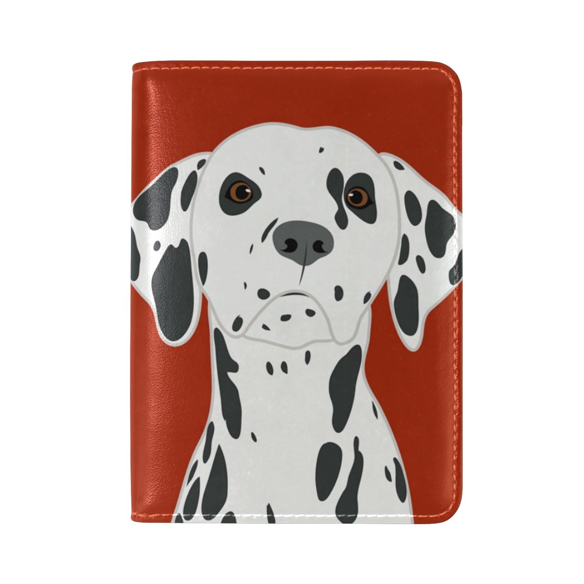 MyDaily Dalmatian Dog Leather Passport Holder Cover Case Protector