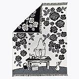 Finlayson Moominmamma 's Rose Garden Decke, Baumwolle, Schwarz/Weiß, Single