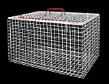 Premium Extra Large Wire Cat Carrier Basket (White)