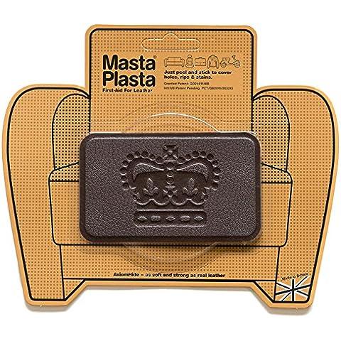 Reparación Cuero, Polipiel y Skai - Parches Adhesivos - MastaPlasta - Rectangulo Mediano Corona (100x60mm) (Marrón