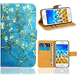 Samsung Galaxy Trend 2 Lite (G318H) Housse Coque, FoneExpert Etui Housse Coque en Cuir Portefeuille Wallet Case Cover pour Samsung Galaxy Trend 2 Lite (G318H)