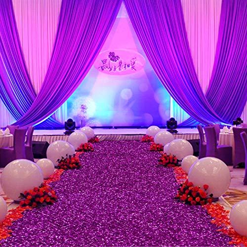 UCCUN Qualität Hochzeit Teppiche Deko Mariage glänzenden Stoff Teppich Aisle Runner 137 CMx5.1M 2166-1, durch05-6, 1.37 Mx5.1M
