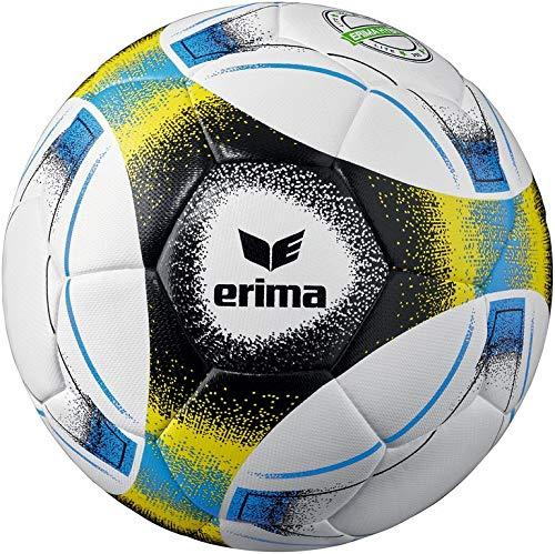 Erima Unisex- Erwachsene Hybrid Lite 350 Fußball, blau/schwarz/gelb, 4
