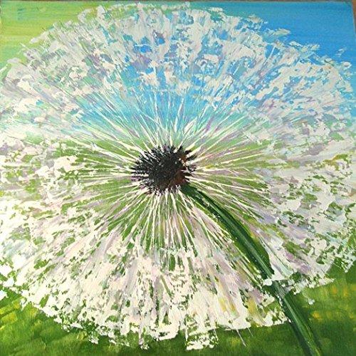 Binggong 5D Full Stickerei Gemälde Strass Kleben DIY Diamant Malerei Kreuzstich Dekorative Malerei des Löwenzahns für Zimmer und Wohnzimmer 30x30cm (30x30cm, E)
