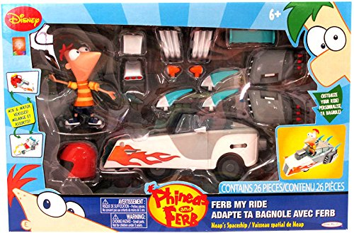 Phineas & Ferb Ferb My Ride Spaceship With Phineas