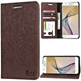 #5: DMG Premium Leather Wallet Flip Cover Stand Case for Samsung Galaxy J7 Prime (ID Coffee)