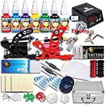 Neu Tattoomaschine Great Tattoo Kits 2 Rotary Machine New Design Power box TOP USA Inks DIY-506 EUYMX