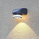 LANBOS 5W LED Wandlampe Wasserdichte IP54 Wandbeleuchtung 3000K Warmweiß LED schwarze Außenwandleuchten 400LM 14*12*10.5CM down