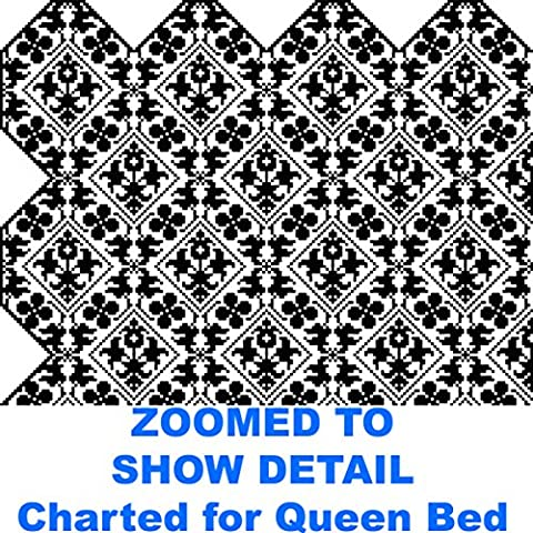 Scalloped Victorian Lace Coverlet/Afghan: For an Elegant Old-Style Bed in Filet Crochet