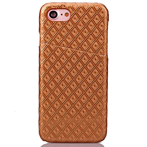 iPhone Case Cover Retour Couverture rigide Motif diamant Lattice carré Grille pour Apple IPhone 7 ( Color : Black , Size : IPhone 7 ) Gold