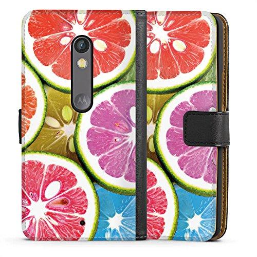 DeinDesign Lenovo Moto X Play Tasche Hülle Flip Case Orange Lemon Swets