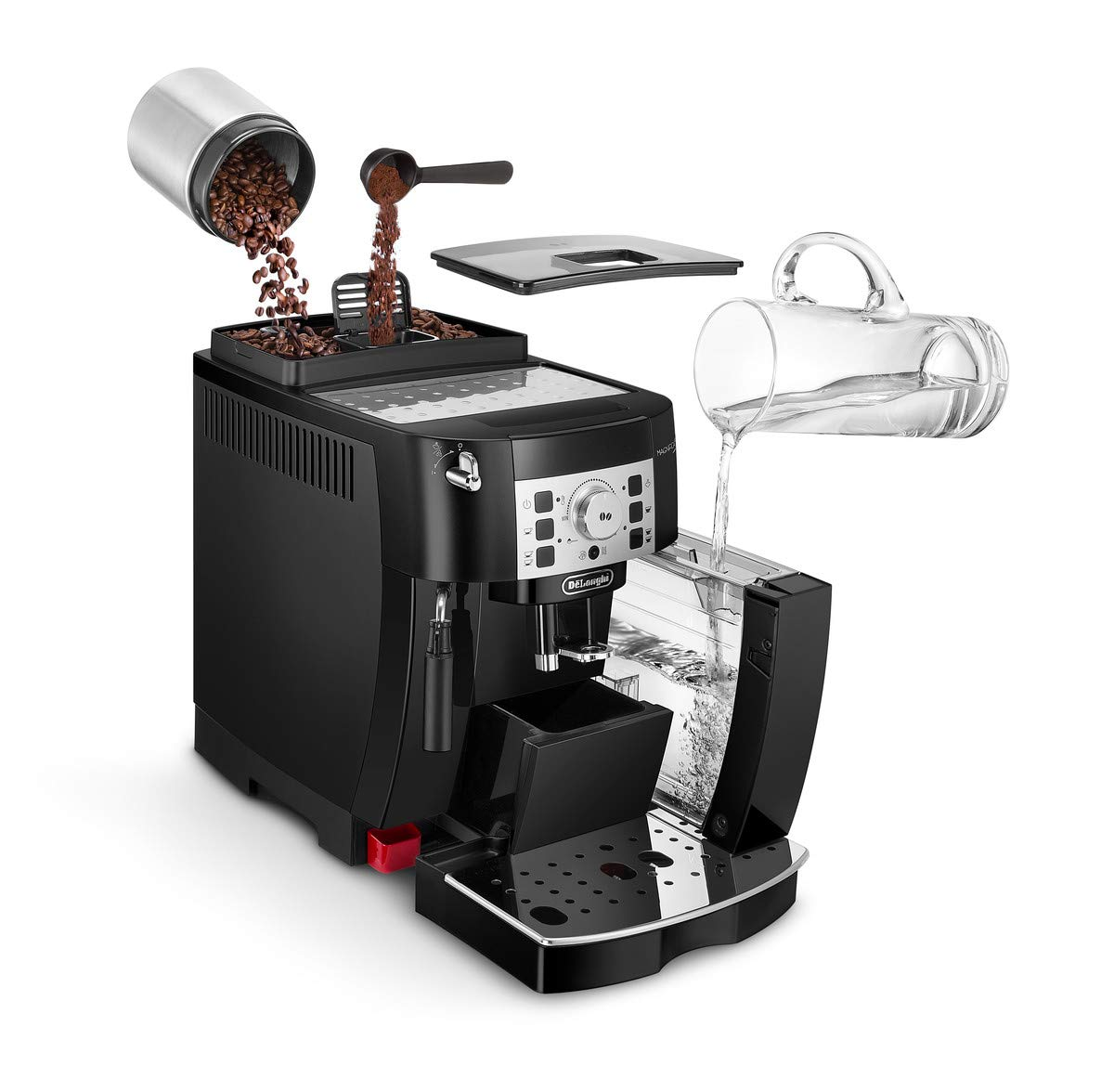 DeLonghi-Fully-Automatic-Bean-to-Cup-Coffee-Machine-ECAM22110B-220-W