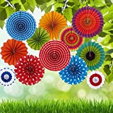 Fecedy® Paper Flowers fan for party/Birthday Decoration 12pcs/pack