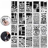Wskderliner Zeichenschablonen Bullet Journal Set Scrapbooking Zeichen Grafiken Schablonen Technisches