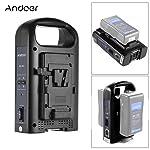 Andoer Andoer AD-2KS 2-Channel Dual Camcorder Battery Charger for V-Mount Battery for DSLR Video Camera