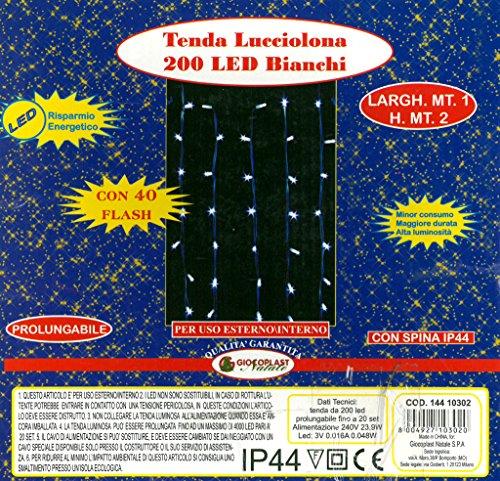 Giocoplast Natale Tile 1000 200 LED Hot Game 1M, weiß