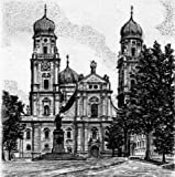 Einfarbige original Radierung Passau, Dom von Sommer als loses Blatt, Graphik, kein Kunstdruck, kein Leinwandbild