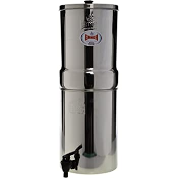 Ganga Stainless Steel Water Filter 24 Litres,3 Candles