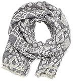 OPUS Damen Schal Ann scarf, Gr. One size, Grau (pale grey 8033)