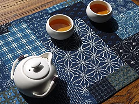 QIZHU0 Tischläufer Antike Blume print Baumwolle Striped Home Textile Tischdecken Leinen Tischdecke Leinen 30x50