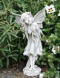 MUK groß 35cm stehend Fairy Blowing Fairy Dust Kiss Engel Garten Statue Skulptur Stein Effekt