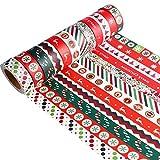 Howaf 12 Rollos Navidad washi Tape Navidad Cinta Adhesiva Decorativa para Manualidades, artesanía, álbumes de Recortes y Regalos