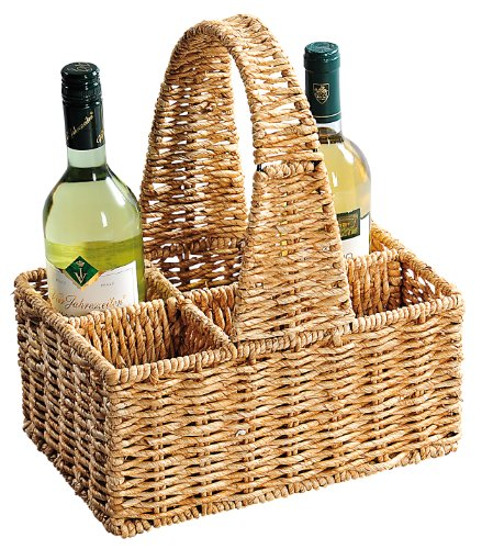 Kesper 19850 Bottle Basket for 6 Bottles Maize Leaf Dimensions 30 x 20 cm Height 14 / 36 cm