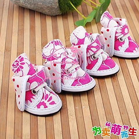 Bambola modello di scarpe scarpe scarpe di tela cane cucciolo calzature simili calzature moda 4 opzioni colore,rosa,n.