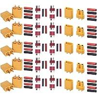 GTIWUNG 5 Pairs XT60 Male Female Bullet Connectors, 5 Pairs XT-30 Connecteurs de Balle pour Voiture RC/Bateau/Batterie…