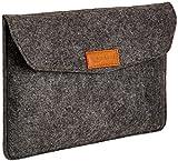 AmazonBasics Laptop-Tasche, Filz, für Displaygrößen bis 11 Zoll (27,94 cm), Grau
