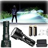 Linterna LED impermeable de alta potencia de 30000-100000 lúmenes, Ultra brillante 3 modos Más potente 50W linterna xlm p70 L