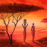 20Servilletas africana Indígenas/Personas 33x 33cm