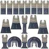 SabreCut SPK18A - Accessoires d'outils multifonctions : kit de 18lames de coupe métallique rapide adaptables aux marques suivantes : Dewalt - Stanley - Black & Decker - Bosch - Fein Multimaster - Multitalent - Makita - Milwaukee - Einhell - Ergotools - Hitachi - Parkside - Ryobi - Worx - Workzone