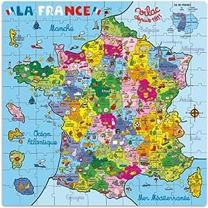 Vilac - 2603 - Puzzle - Carte de France en Valise - 144 Pièces