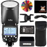 Godox V1-N TTL Flash con Cabeza Redonda para Nikon 7.6Ws 2.4G Inalámbrico 1/8000 HSS 480 Flashes a Plena Potencia 1.5s Tiempo