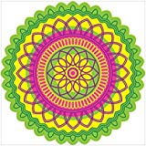 NISH! Rangoli Sticker #018 (Vinyl, Large - 24in X 24in, 50 Pieces) | Rangoli Stickers Floor | Rangoli Floor Stickers | Rangoli Stickers For Wall | Rangoli Stickers For Doors | Diwali Rangoli Stickers