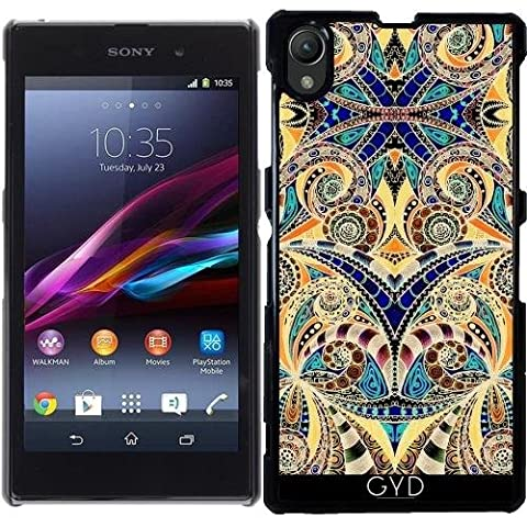 Coque pour Sony Xperia Z1 (l39h) - G7 Dessin Floral Zentangle by Medusa GraphicArt