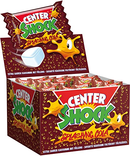 Center Shock Splashing Cola I 3 Boxen mit jeweils 400 g Kaugummis I Cola-Geschmack extra-sauer
